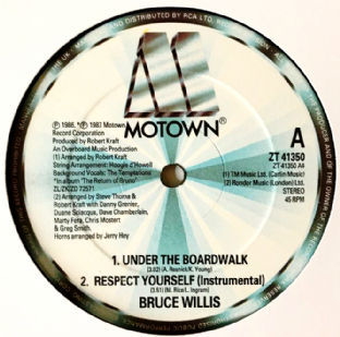 "Bruce Willis ‎- Under The Boardwalk (12"") (G/NM)"
